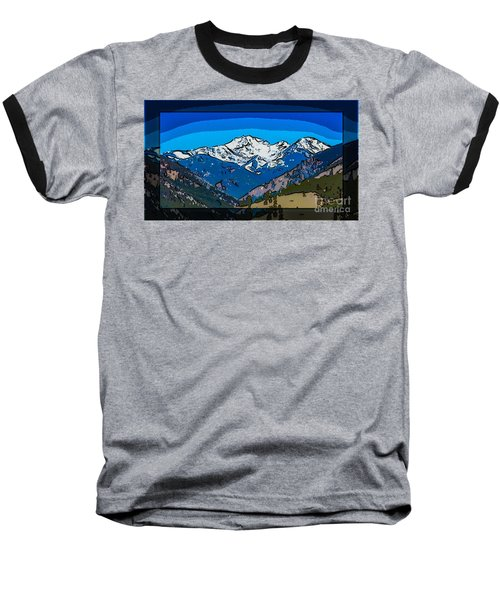 Mt Gardner In The Spring Abstract Painting  Baseball T-Shirt