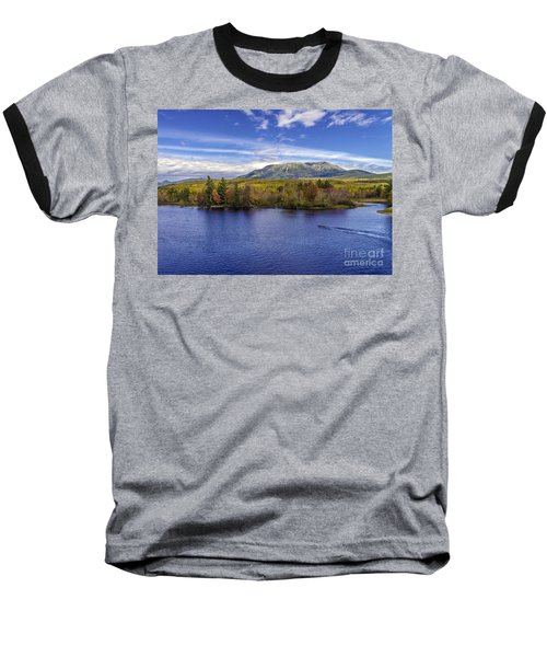 Mt Katahdin Hdr Baseball T-Shirt by Glenn Gordon