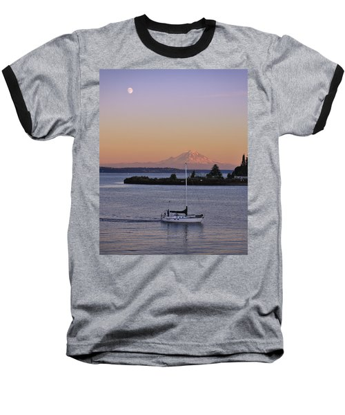 Mt. Rainier Afterglow Baseball T-Shirt