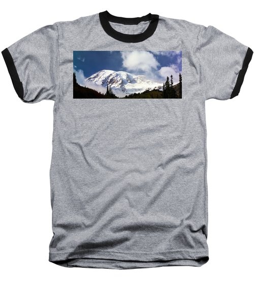 Mt Rainier II Baseball T-Shirt