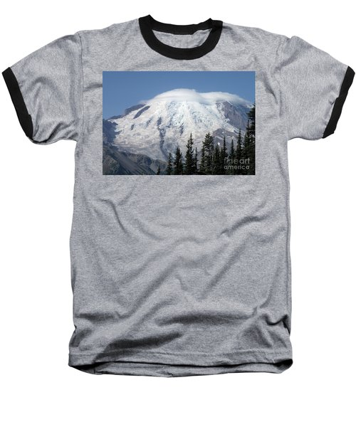 Baseball T-Shirt featuring the photograph Mt. Rainier In August 2 by Chalet Roome-Rigdon