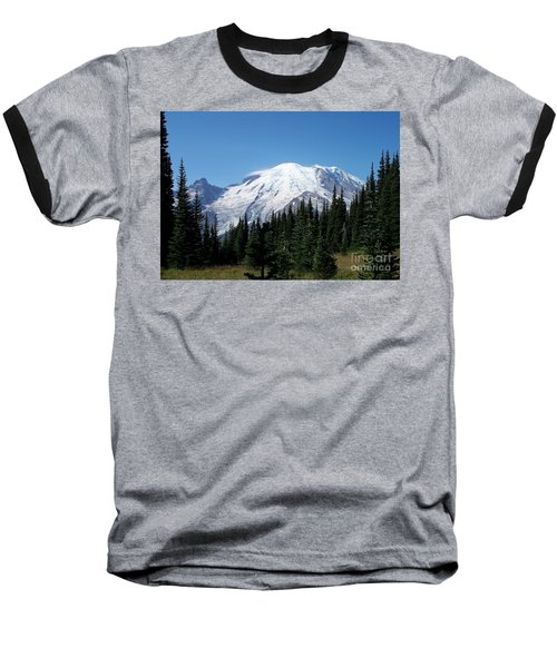 Mt. Rainier In August Baseball T-Shirt by Chalet Roome-Rigdon