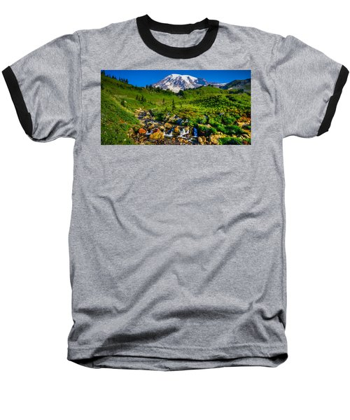 Baseball T-Shirt featuring the photograph Mt. Rainier Stream by Chris McKenna