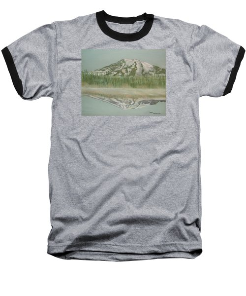 Baseball T-Shirt featuring the pastel Mt Rainier by Terry Frederick