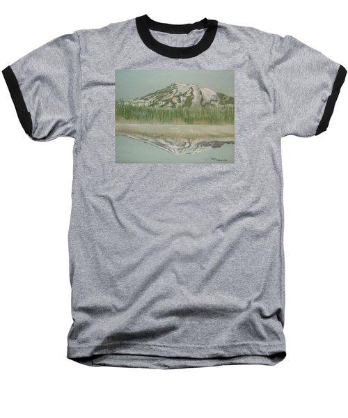 Mt Rainier Baseball T-Shirt by Terry Frederick