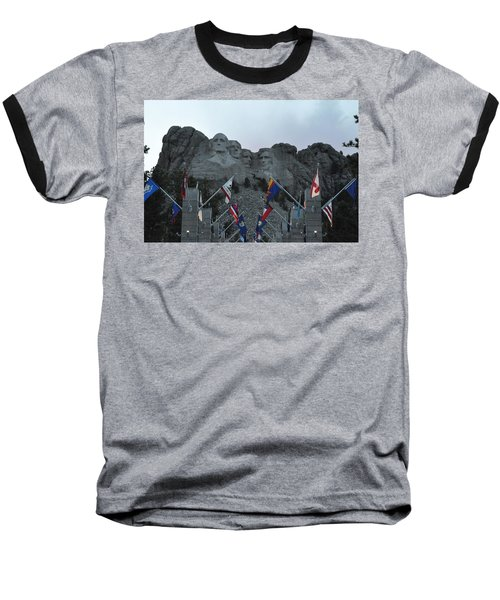 Mt. Rushmore In The Evening Baseball T-Shirt
