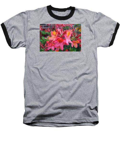 Mt St Helens Azalea Baseball T-Shirt by Kathryn Meyer