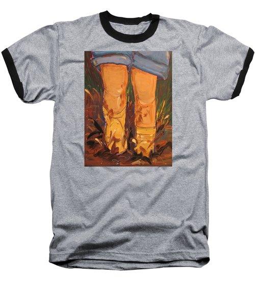 Mud Puddle Fun Baseball T-Shirt by Terri Einer