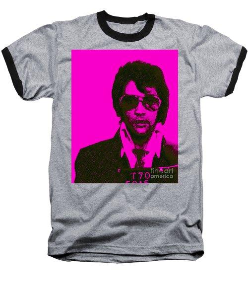 Mugshot Elvis Presley M80 Baseball T-Shirt