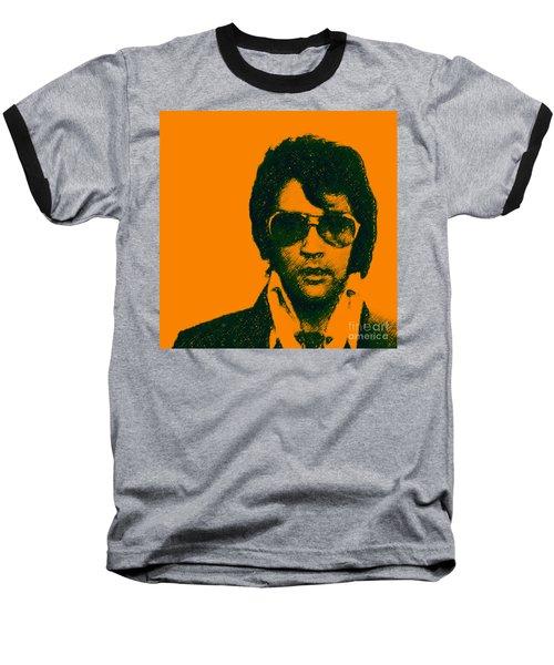 Mugshot Elvis Presley Square Baseball T-Shirt