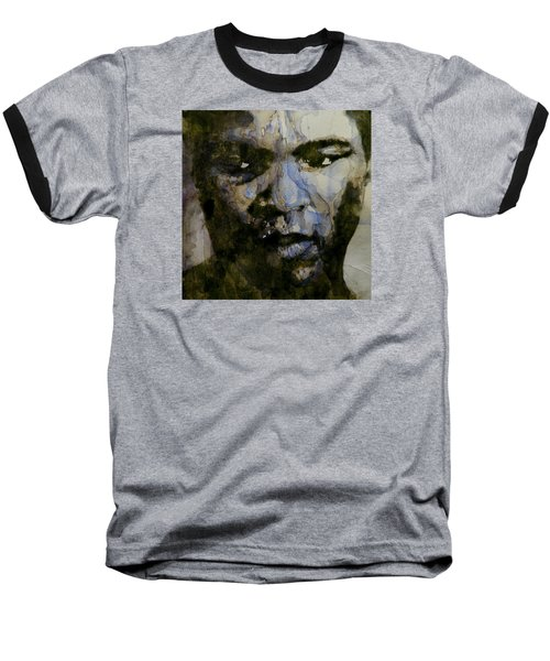 Muhammad Ali  A Change Is Gonna Come Baseball T-Shirt by Paul Lovering