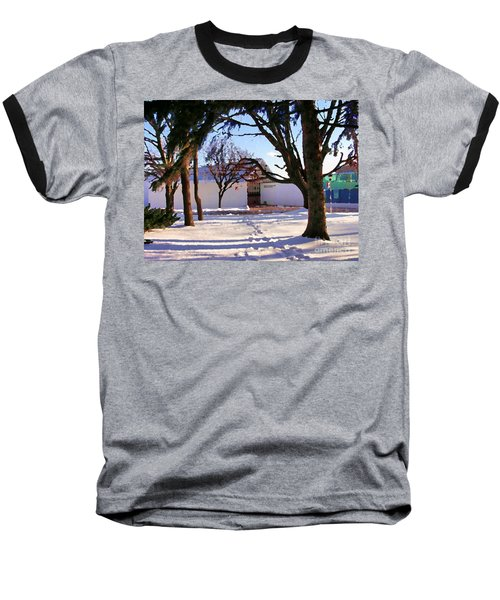 Abstract Of Center For The Arts Exterior Allentown Pa Baseball T-Shirt by Jacqueline M Lewis