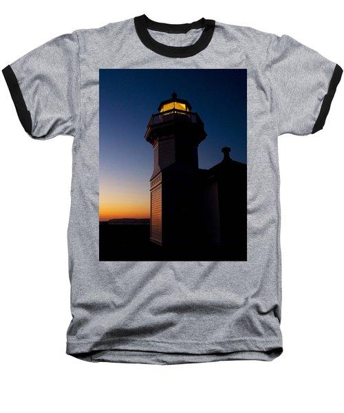 Baseball T-Shirt featuring the photograph Mukilteo Light House Sunset by Sonya Lang