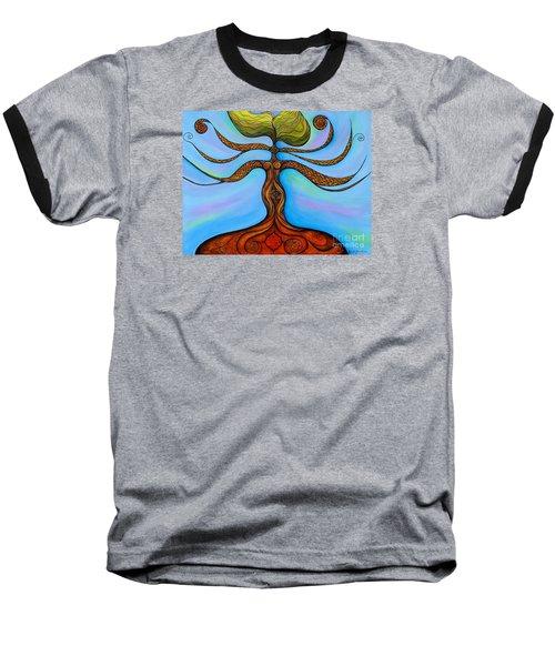 Baseball T-Shirt featuring the painting Muladhara by Deborha Kerr