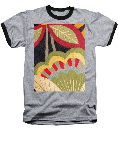 Baseball T-Shirt featuring the photograph Multi-colored Flowers Leaves Textile by Janette Boyd