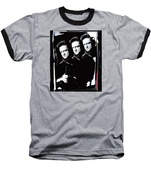 Baseball T-Shirt featuring the photograph Multiple Johnny Cash Sitting Old Tucson Arizona 1971-2008 by David Lee Guss