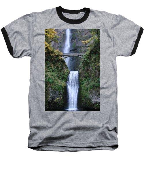 Baseball T-Shirt featuring the photograph Multnomah Falls by Athena Mckinzie