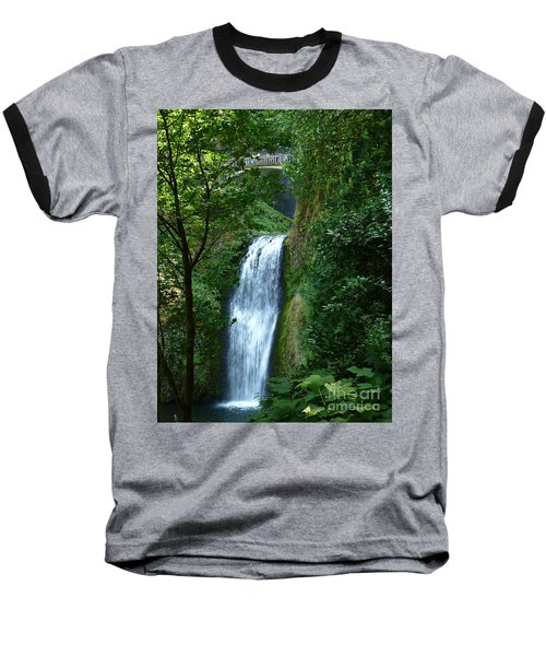 Multnomah Falls Bridge 2 Baseball T-Shirt