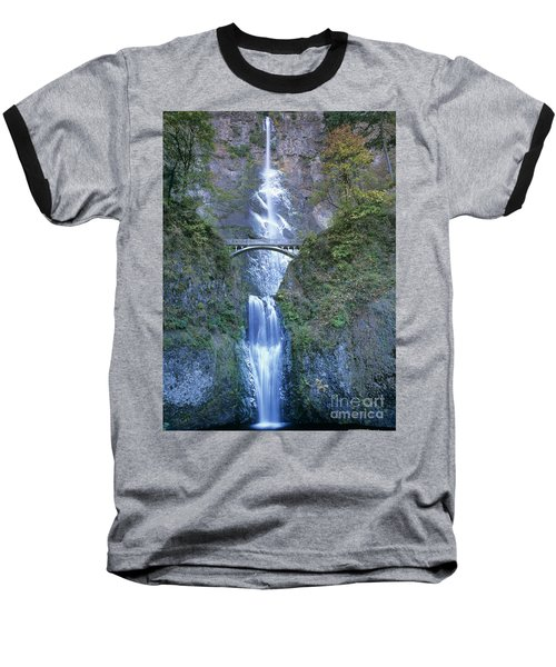 Multnomah Falls Columbia River Gorge Baseball T-Shirt by Dave Welling