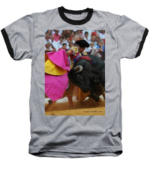 Mundo Torero Baseball T-Shirt by Bruce Nutting