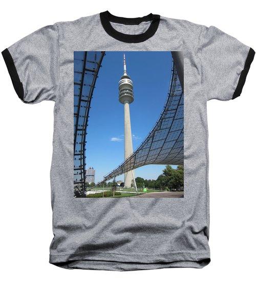 Baseball T-Shirt featuring the photograph Munich Olympic Tower by Pema Hou