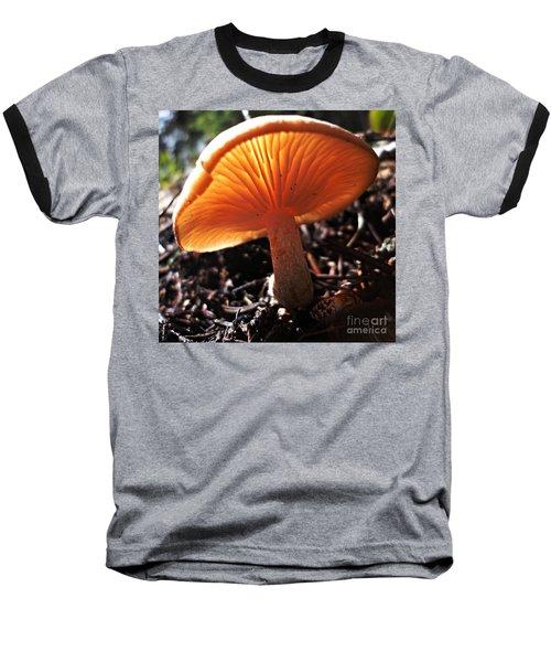 Mushroom Baseball T-Shirt by Janice Westerberg
