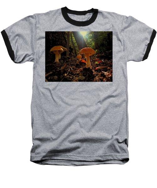 Baseball T-Shirt featuring the photograph Mushroom Morning by GJ Blackman