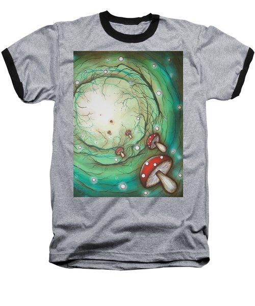 Mushroom Time Tunel Baseball T-Shirt