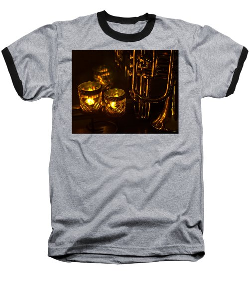 Trumpet And Candlelight Baseball T-Shirt