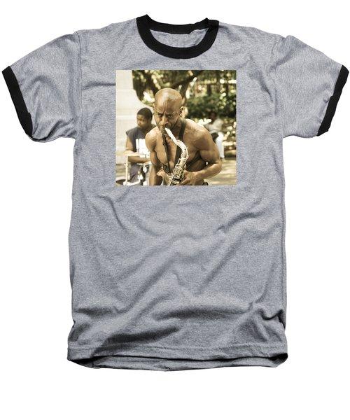 Music In The Park Baseball T-Shirt by Menachem Ganon