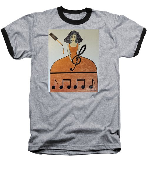 Music Lover Baseball T-Shirt by Jasna Gopic