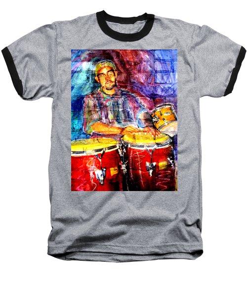 Musician Congas And Brick Baseball T-Shirt