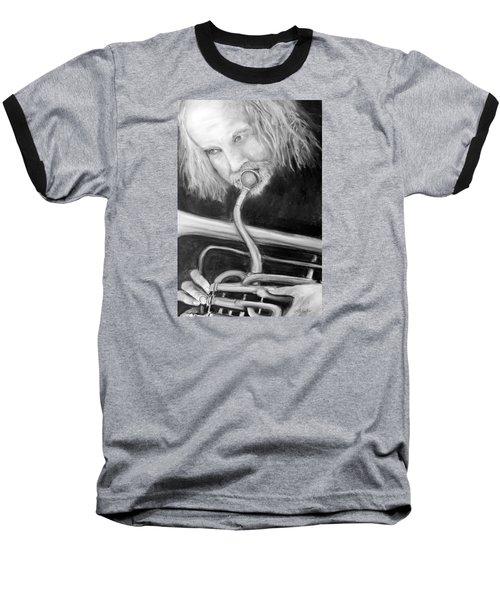 Musician Baseball T-Shirt by Loretta Luglio