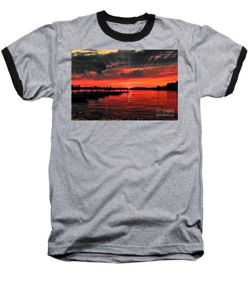 Muskoka Sunset Baseball T-Shirt