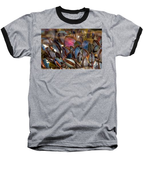 Mussels Underwater Baseball T-Shirt by Peggy Collins