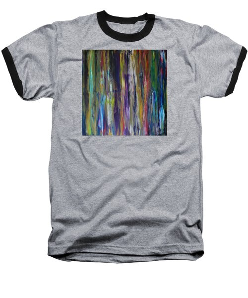 Baseball T-Shirt featuring the painting Must First Survive Thyself by Michael Cross