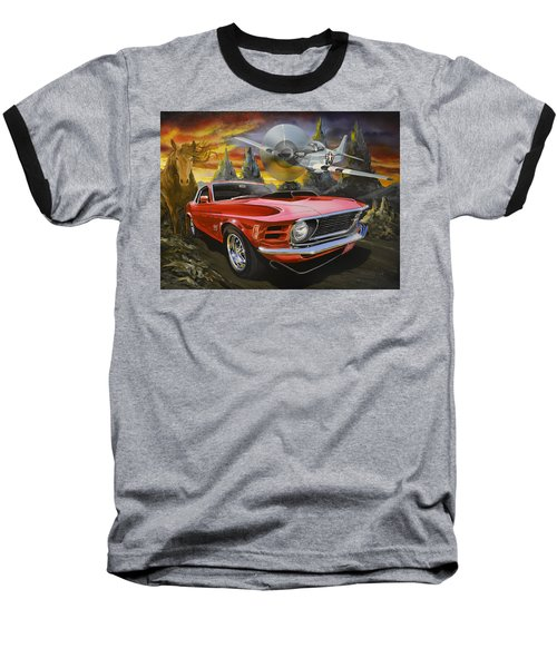 Mustangs 3 Baseball T-Shirt