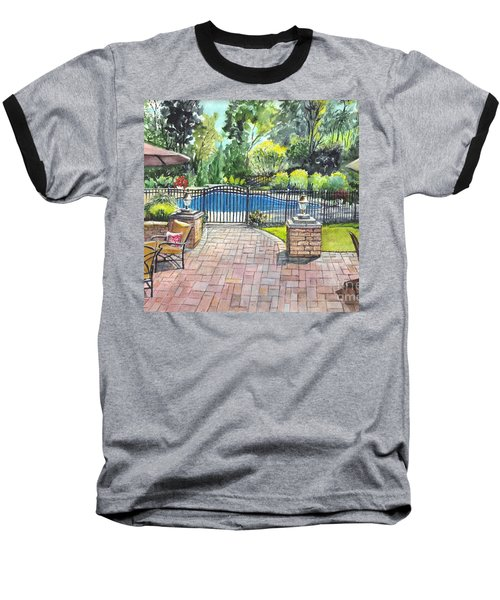 My Backyard Vacation Baseball T-Shirt