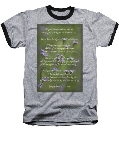 My Beloved Spoke - Purpletop Vervain Verbena Bonariensis Baseball T-Shirt