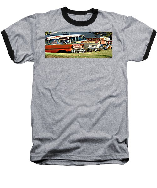 Baseball T-Shirt featuring the digital art My Cars by Cathy Anderson