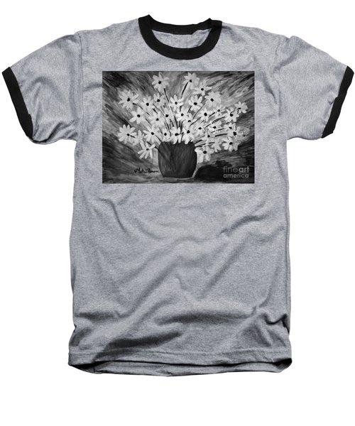 My Daisies Black And White Version Baseball T-Shirt