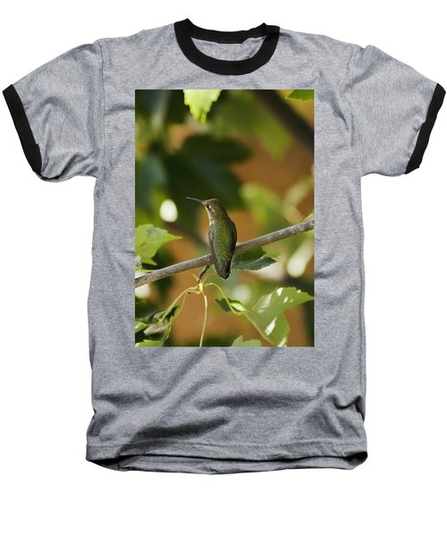 My Green Colored Hummingbird 4 Baseball T-Shirt