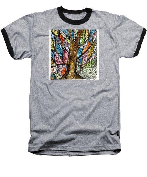 My Happy Watercolor Tree Baseball T-Shirt