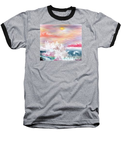 Baseball T-Shirt featuring the painting My Heaven by Lori  Lovetere