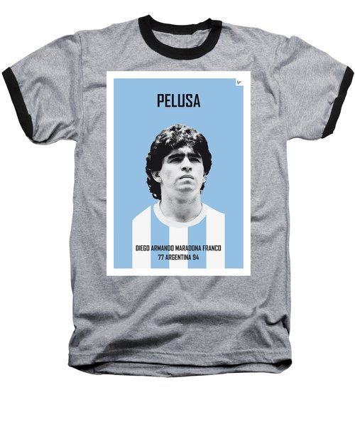 My Maradona Soccer Legend Poster Baseball T-Shirt by Chungkong Art