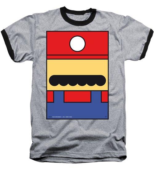 My Mariobros Fig 01 Minimal Poster Baseball T-Shirt