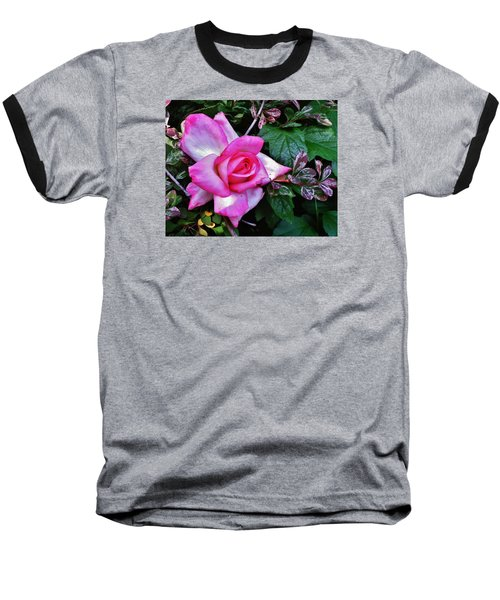 Baseball T-Shirt featuring the photograph My Perfect Tea Rose by VLee Watson