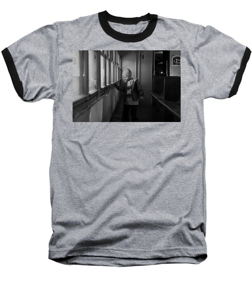 Baseball T-Shirt featuring the photograph My Shadow by Jeremy Rhoades