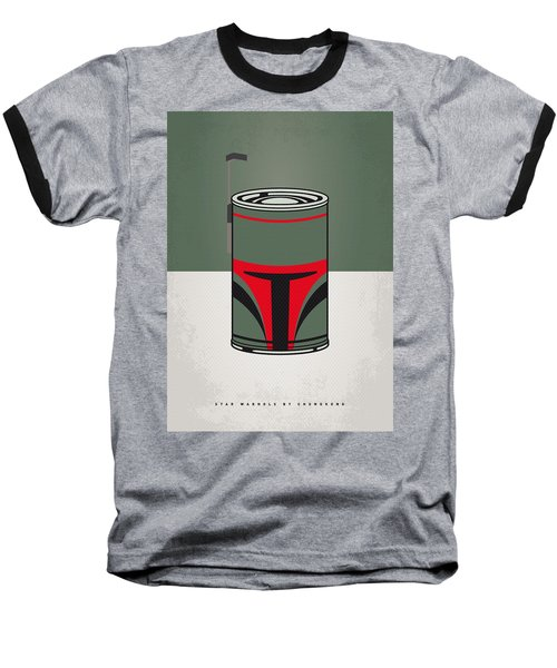 My Star Warhols Boba Fett Minimal Can Poster Baseball T-Shirt