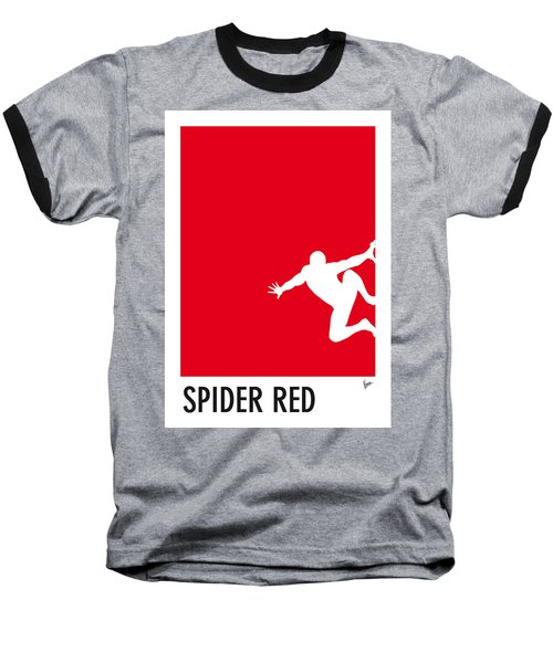 My Superhero 04 Spider Red Minimal Poster Baseball T-Shirt
